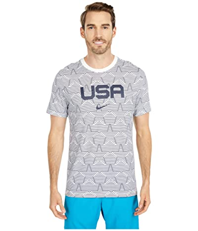 Nike NSW Tee Olympic All Over Print USA (Sail/Sail/Obsidian) Men