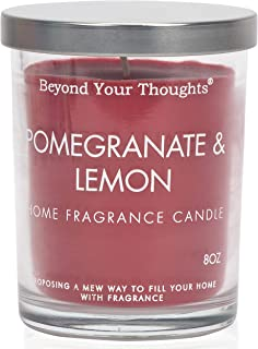 Beyond Your Thoughts Scented Candle Aromatherapy Wax Mixed Popular Long Lasting Pomegranate Lemon Fragrances 8oz
