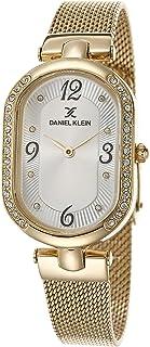 Daniel Klein Premium Alloy Case Mesh Band Ladies Wrist Watch - Dk.1.12466-2, gold