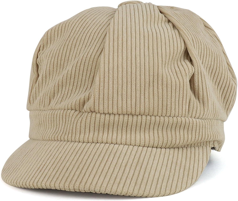 Detroit Sale special price Mall Trendy Apparel Shop Corduroy Textured Newsboy Cheyenne Style Cap