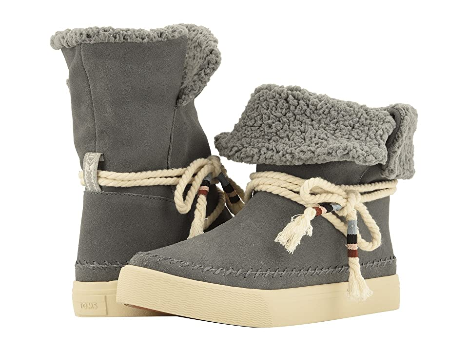 TOMS Vista Water-Resistant Boot (Shade Suede/Faux Shearling) Women