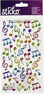 Sticko STICKO Music Notes, 52-20128, Multicolor, 1 Pack