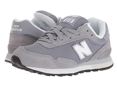New Balance Kids YC515v1 (Little Kid/Big Kid) (Grey/White) Boys Shoes