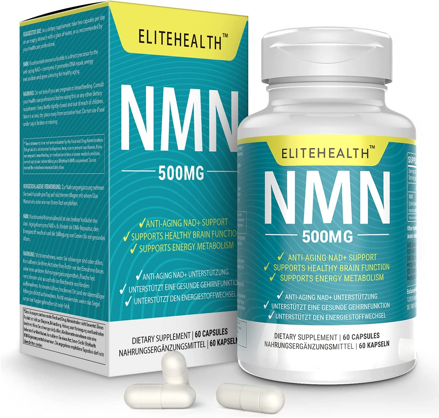 PUREST NMN for NAD Support A 60 Grain Supplement 500mg Ranking TOP17 Year-end gift