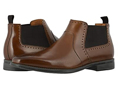 Stacy Adams Perrin Plain Toe Chelsea Boot (Cognac) Men