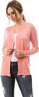 Open Front Solid Color Long Sleeve Sweater Cardigan
