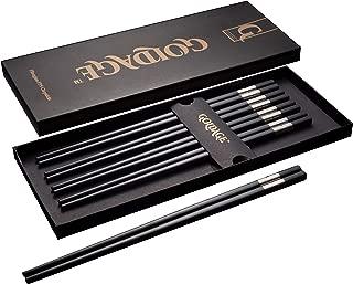 Goldage 5-Pairs Fiberglass Dishwasher-safe Chopsticks - Golden Age (Refreshing Silver)