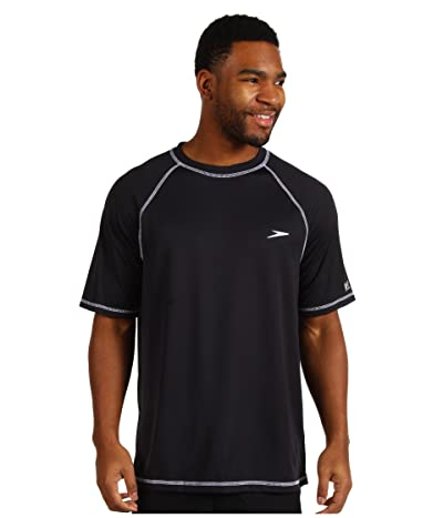 Speedo Easy S/S Swim Tee (Black) Men