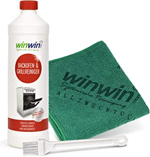 winwin clean Systemische Reinigung - BACKOFENREINIGER - Set: 1000ML  UNIVERSALTUCH  Pinsel
