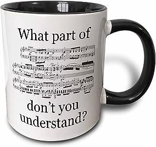 3dRose 112161_4 The The Musician's Music Two Tone Black Mug, 11 oz, White