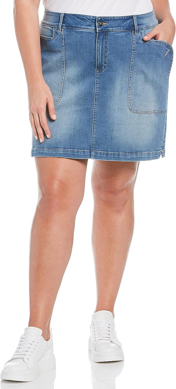 Rafaella Women's Plus Size Denim Manufacturer direct delivery Skort Choice Pocket Patch