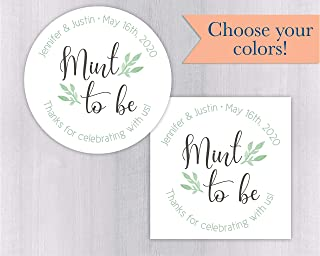 Mint To Be Wedding Favor Stickers (#169-WH)