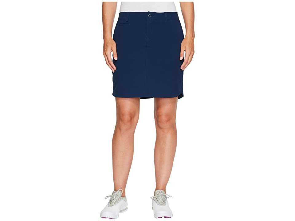 Under Armour Golf Links Woven Skort 17 (Academy/True Gray Heather/Academy) Women's Skort, Black