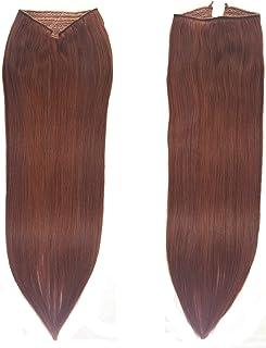 "Knockout Hair Fits like a Halo Hair Extensions, 20-Inch, Human, 120 Grams, Dark Auburn - #33-20"""