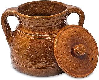 Alecook Ptra25 Puchero Tradicional De 25 Cm, 4.5 Litros, Barro Refrectario