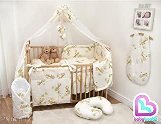 Giraffe 5-teiliges Baby Bettw/äsche Set 140x70cm mit dickem Kinderbett Schutz