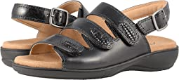 Black Smooth Sandal Leather