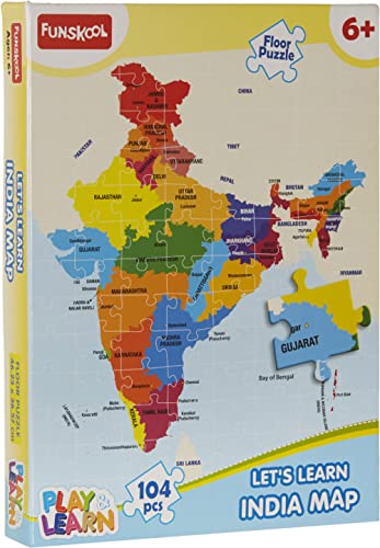 Funskool-Play & Learn India Map Puzzles