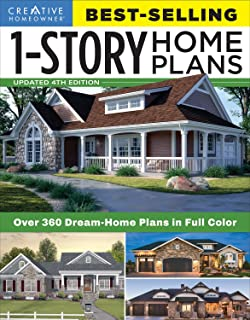 Best-Selling 1-Story Home Plans, Updated 4th Edition: Over 360 Dream-Home Plans in Full Color (Creative Homeowner) Craftsm...