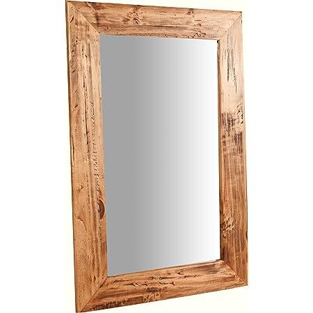 Specchiera Da Parete Con Cornice In Legno Massello E Specchio Invecchiato Cm 50x70 Amazon It Casa E Cucina
