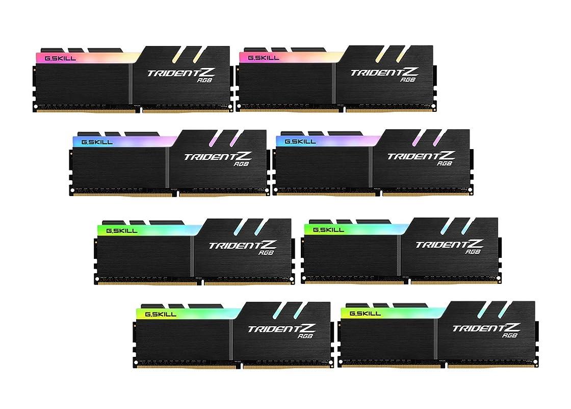 行方不明草リスナーG。Skill TridentZ RGBシリーズ128?GB ( 8?x 16?GB ) 288-pin ddr4?2933?MHz cl14デスクトップメモリモデル