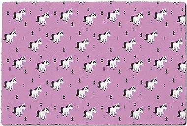 Geometric Unicorns Door Mat - Small Door Mat - Indoor Neoprene