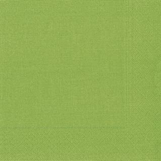 Entertaining with Caspari Grosgrain, Moss Green, Luncheon Napkin, Pack of 20