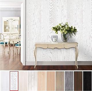 KINLO Papel Adhesivo Pintado Impermeable con la Imagen de Madera Pegatina de PVC para Decorar y Proteger Pegatina para Muebles Cocina Baño a Prueba de Agua de Moho 0.61 * 5M per Rollo