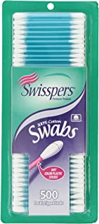 Swisspers Hot Colored Swab-500 ct (Color May Vary)