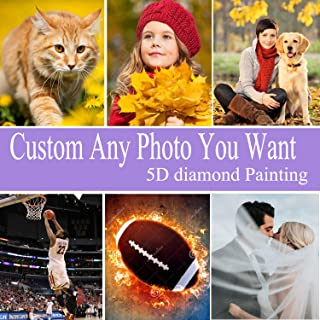 COLEEY 5D DIY Diamond Painting Private Custom Photo Custom Make Your Own Diamond Painting Full Drill Diamond Rhinestone Embroidery Decoration Gifts (Customized Painting, 11.7x15.8inch)