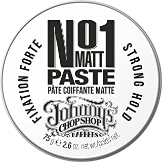 Johnny's Chop Shop #1 Men's Hair Styling Matte Paste Pro-Quality Strong Hold, Natural Look, 2.46 oz (2.6 Ounce (Pack of 1))