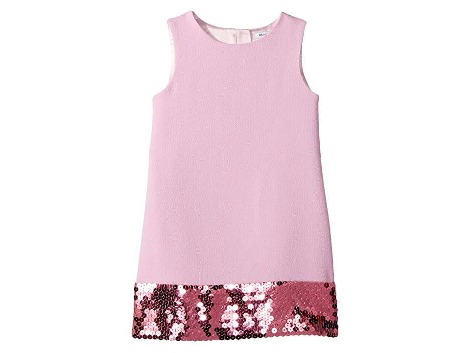 Dolce & Gabbana Kids Wool Crepe Dress (Toddler/Little Kids) (Rose) Girl