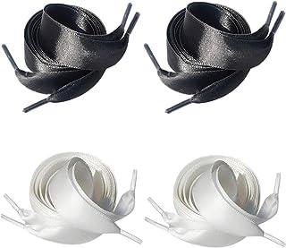 Lorpops - Cordones de satén para mujeres y niñas, 7 combinaciones, 4 colores, paquete de 3/4 pulgadas