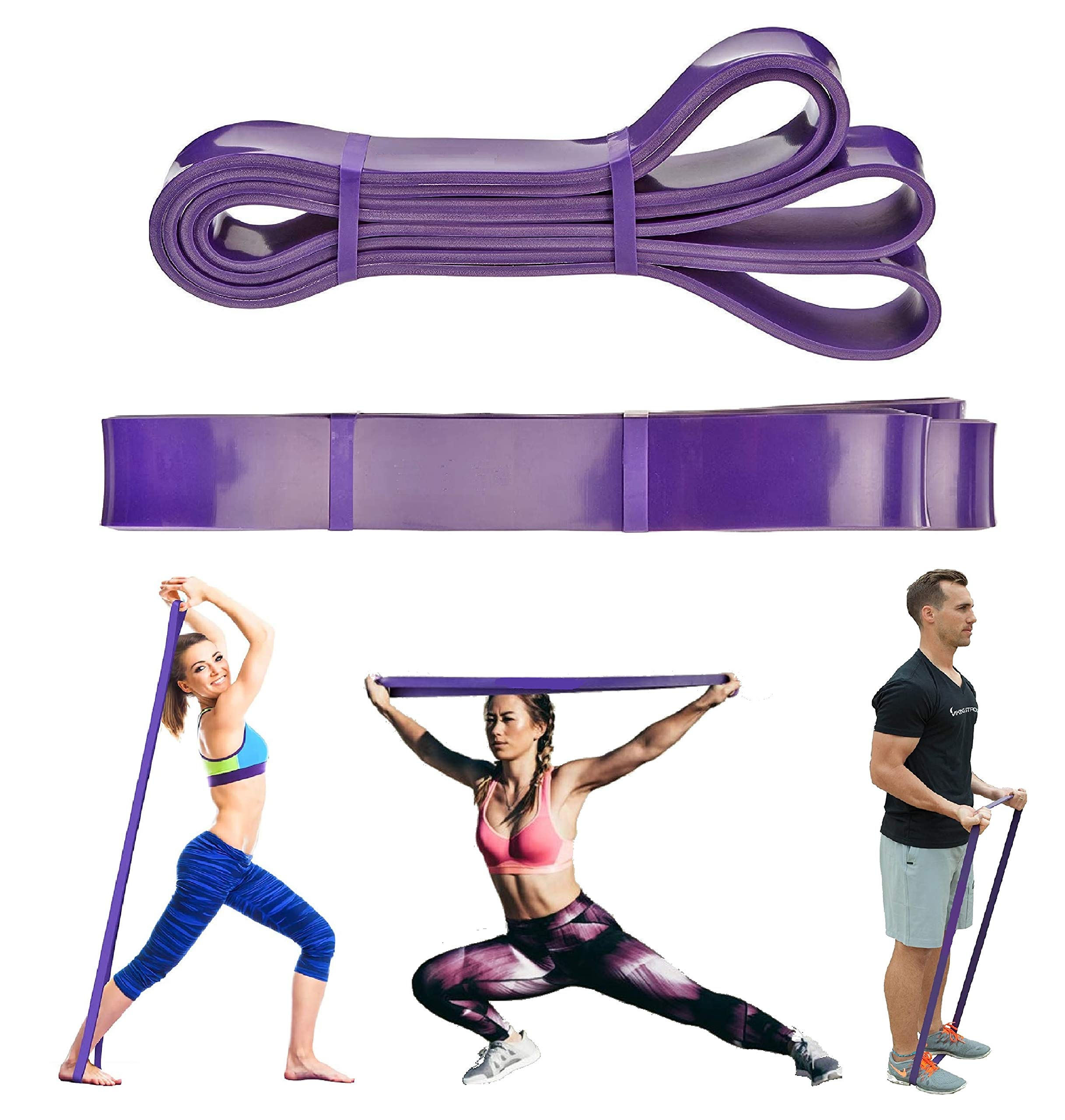 Exercise Resistance Bands Loop Pull Up Assist Elastic Bands Fitness Home Gym #