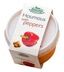 San Amvrosia Health Foods Houmous with Peppers, 228 g
