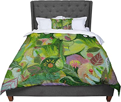 104 X 88 KESS InHouse Sarah Oelerich Paisley Pop Orange Pink King Cal King Comforter