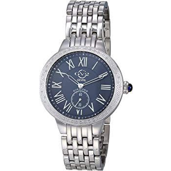 GV2 by Gevril Women's Astor Swiss Quartz Watch with Stainless Steel Strap, Silver, 18 (Model: 9110)