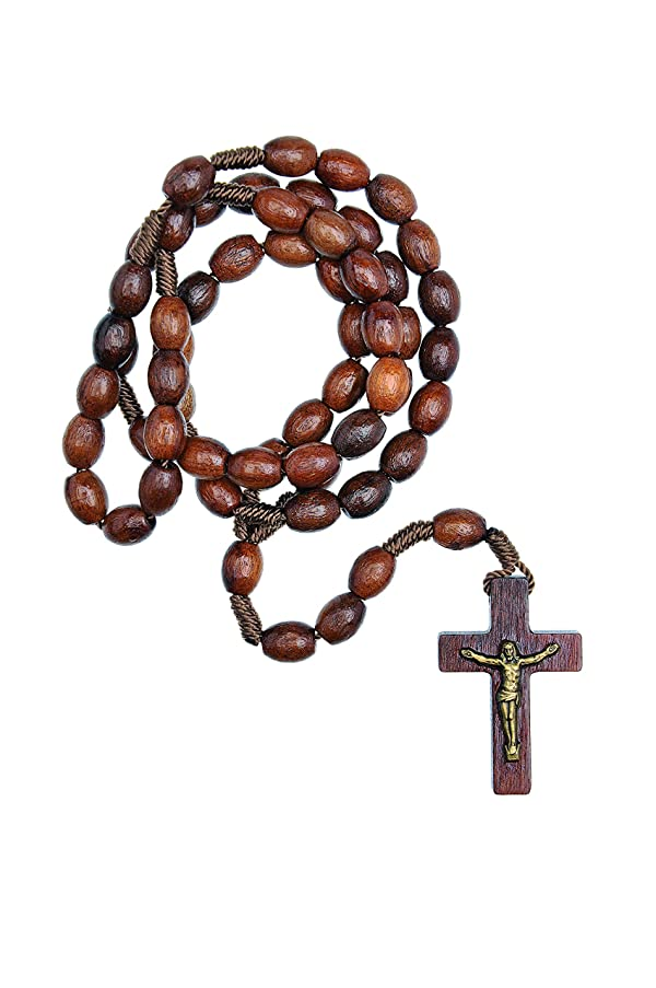 Intercession? First Wood Rosary - Made in Brazil