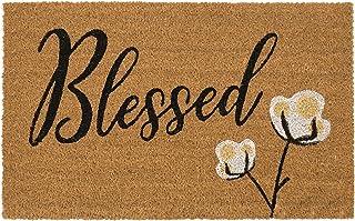 "Avera Products   Blessed Cotton Bloom, Natural Coir Fiber Doormat, Anti-Slip PVC Mat Back   29"" x 17"""