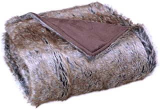 Bedford Cottage Luxurious Eskimo Faux Fur Throw, Brown