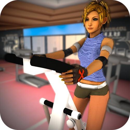 Estilo de vida virtual Fitness Girl: entrenamiento de chica delgada