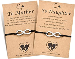 مجموعة أساور متناسقة من Shonyin للأم والابنة أساور تتمنى سحر لمدة 2 هدية مجوهرات عيد ميلاد للأم النساء الفتيات