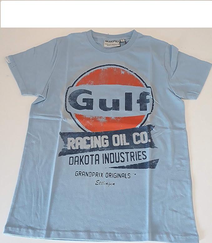 Grandprix Originals Oil Racing Camiseta Gulf Azul