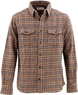 [SWEEP!! LosAngeles スウィープ ロサンゼルス]メンズ チェック柄 コットン ツイードシャツ SWFSTW-21 BROWN(ブラウン)