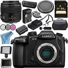 Panasonic Lumix DC-GH5 DC-GH5KBODY Mirrorless Micro Four Thirds Digital Camera + Panasonic Leica DG Macro-Elmarit 45mm f/2.8 ASPH. MEGA O.I.S. Lens Bundle