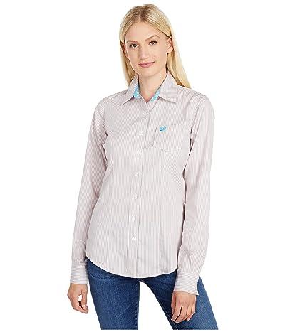 Cinch Long Sleeve Stripe (Multi) Women