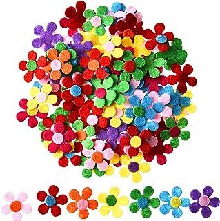 Sumind 100 Pezzi Feltri Fiori di Tessuto Fiori Abbellimenti per Artigianato Fai Da Te, Colori Assortiti