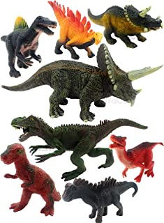 SaleON Set of 8 Dinosaur Toy Action Figure Animal Model Collection Learning & Educational Kids Gift Jurassic Sickle Dragon...
