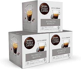 comprar comparacion Nescafé DOLCE GUSTO Ristretto BARISTA - Pack de 3 x 16 Cápsulas - Total: 48 Cápsulas