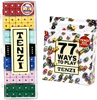 TENZI Party Pack Dice Game Bundle with 77 Ways to Play A Fun, Fast Frenzy for The Whole Family - 6 Sets of 10 Colored Dice - Colors May Vary